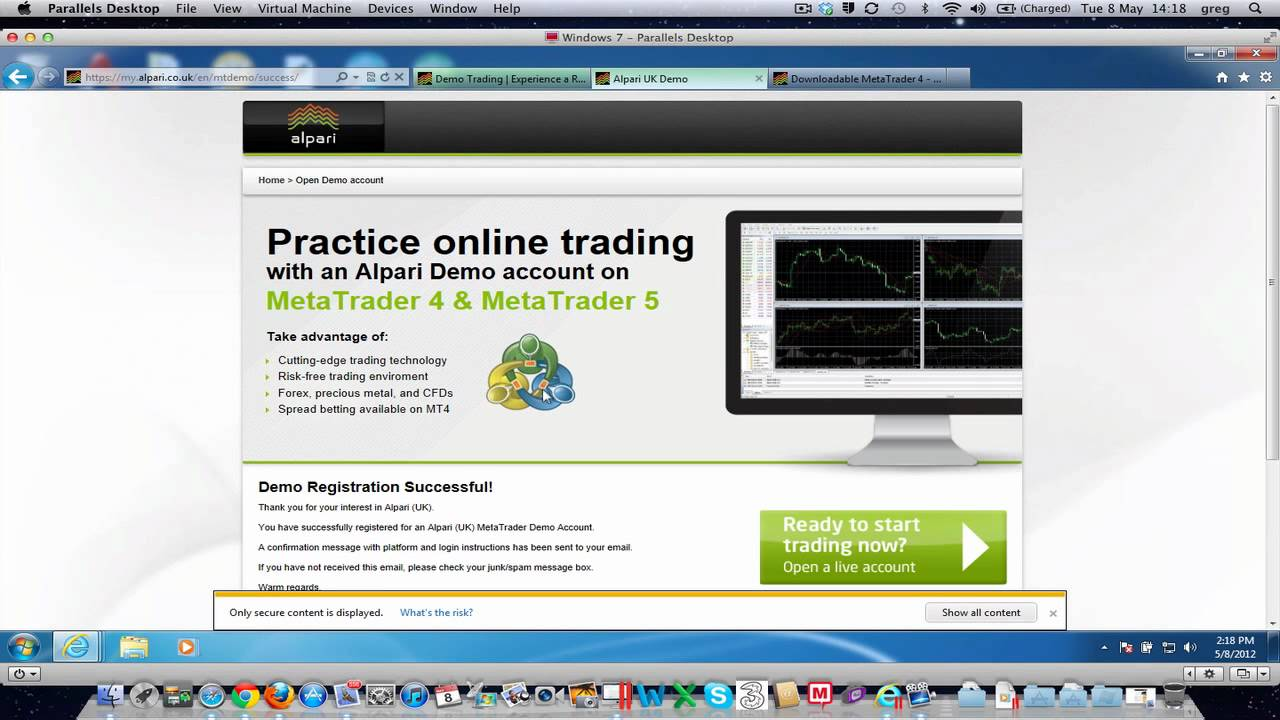 Open demo account forex trading